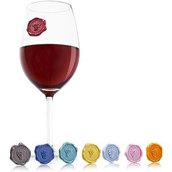 【正規輸入品】vacu vin グラスマーカー クラシック ぶどう柄 8個入り