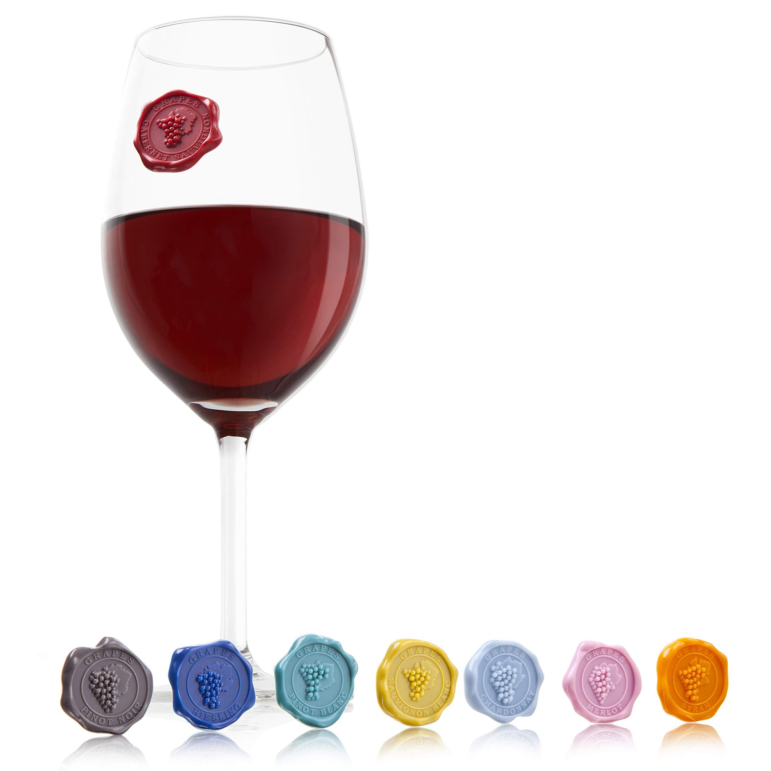 Compra Vacu Vin Marcadores de Copas, Silicona, 145x202x16 en Amazon.es