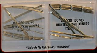 Pair AtIas HO Scale #100 Nickel Silver Rail Joiners New 170 Train Railroad Accessories Quick Arrive