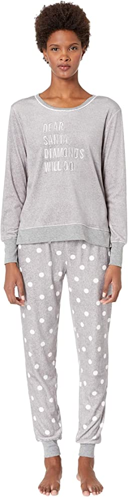 Stretch Velour Jogger Pajama Set