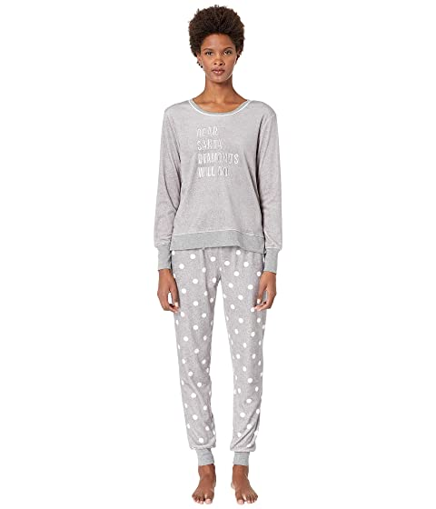 Kate Spade New York Stretch Velour Jogger Pajama Set