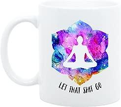 Yoga Gift, Let That Go, Yoga Accessories, Meditation, Yoga Funny Mug, Zen Gift