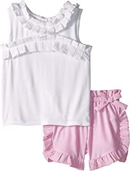 Hazel Pleated Trim Shorts Set (Toddler/Little Kids)