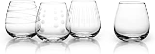 Mikasa Cheers Stemless Wine Glass, 14-Ounce, Set of 4