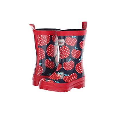 Hatley Kids Limited Edition Rain Boots (Toddler/Little Kid) (Polka Dot Apples Red/Navy) Girls Shoes