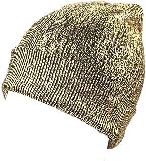 aliveGOT Metallic Bling Skullies Beanie Slouchy Warm Headwrap Turban Hat Punky Cap