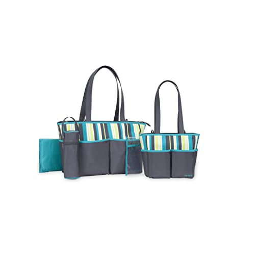 007264389d21 Carter s Multi Stripe 5 Piece Baby Diaper Bag Set for Women - Large