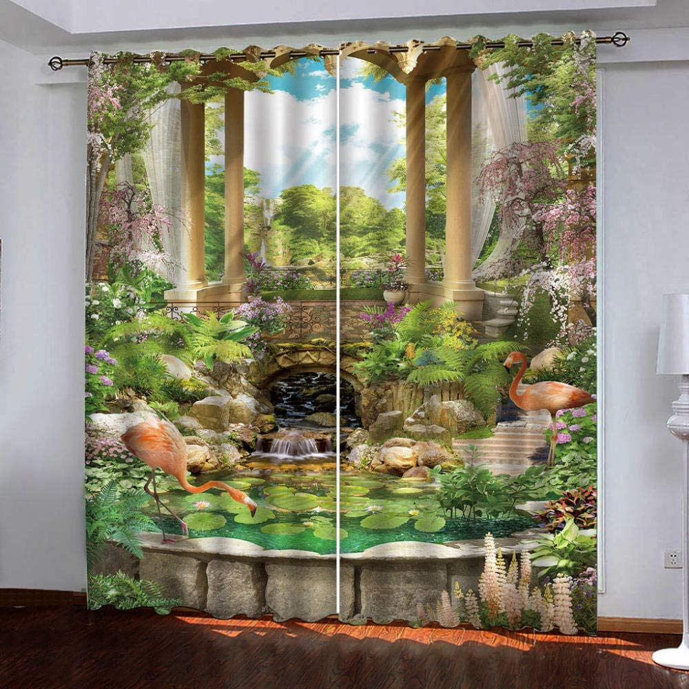 Window Curtains NEW Japan Maker New before selling ☆ for Bedroom Fantasy Pastoral Scenery