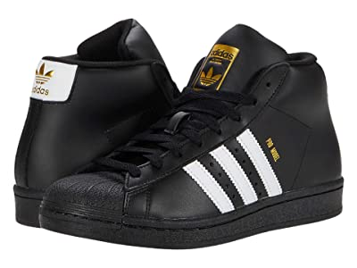 adidas Originals Kids Pro Model J (Big Kid) (Core Black/Footwear White/Gold Foil) Kids Shoes