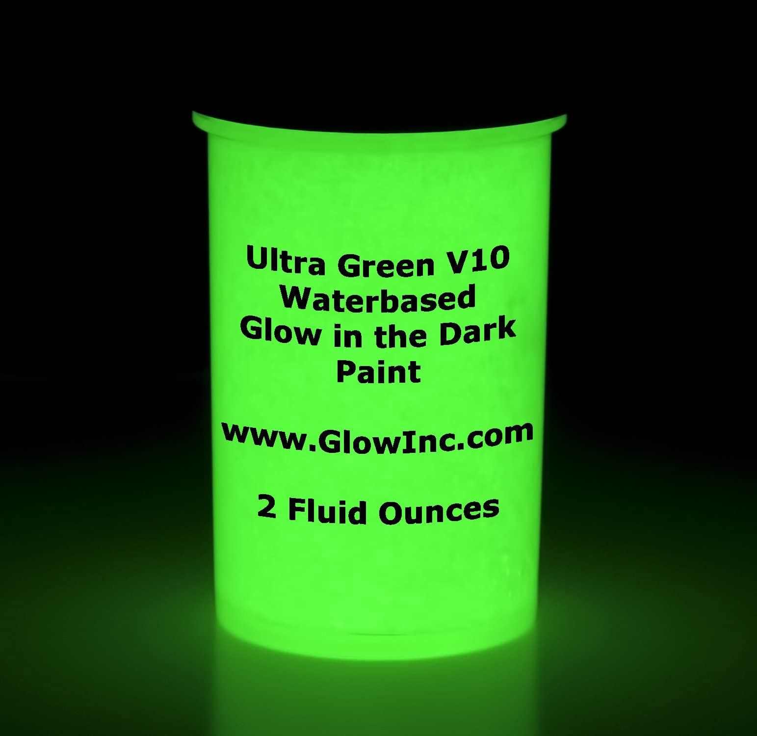 Ultra-green water based glow in the dark paint by Glow Inc 1 Quart