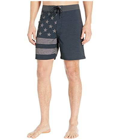 Hurley 18 Phantom Patriot Boardshorts (Black) Men