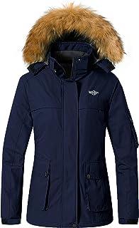 Wantdo Women's Warm Parka Mountain Ski Fleece Jacket Waterproof Windproof Winter Rain Coat Outdoors Anorak