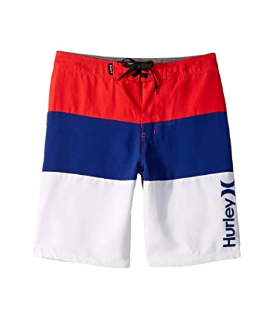Hurley Kids Triple Threat Boardshorts (Big Kids) (Speed Red) Boy