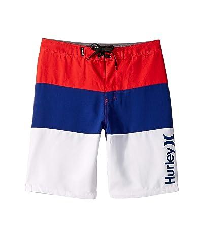 Hurley Kids Triple Threat Boardshorts (Big Kids) (Speed Red) Boy