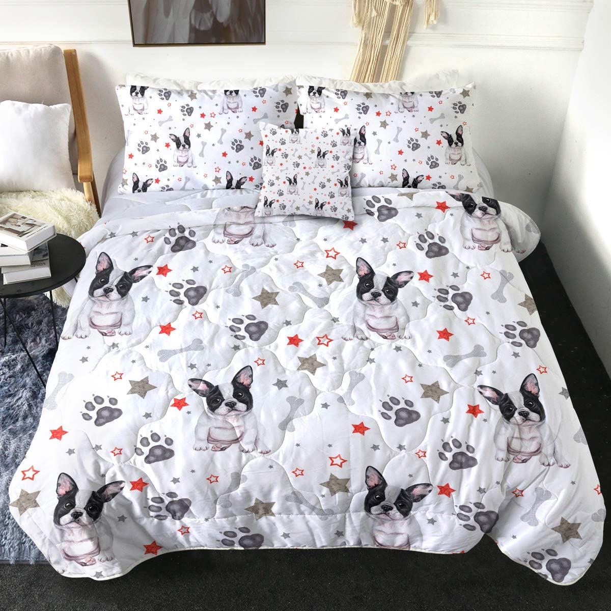 Financial sales sale Sleepwish 3D Animal French Bulldog Rare Print with Pi 2 Set Comforter