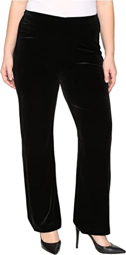 Plus Size Velvet Pants