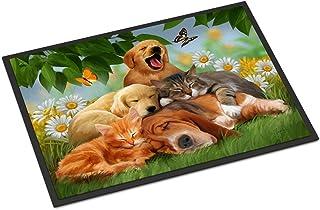 """Caroline's Treasures PTW2049JMAT Golden Retriever, Labrador and Basset Hound Sleepy Heads Indoor or Outdoor Mat, 24 x 36"""",..."""