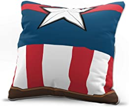 Jay Franco Marvel Avengers Captain America Bust Decorative Pillow Cover - Kids Super Soft 1-Pack Throw Pillow Cover - Measures 15 Inches x 15 Inches (Official Marvel Product)