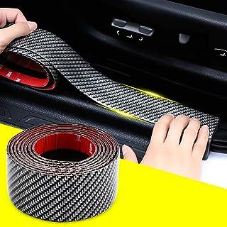 QBUC 5D Carbon Fiber Wrap Film Self-Adhesive Car Door Sill Protector Bumper Protector, Anti-Collision Strip Rubber car Bum...