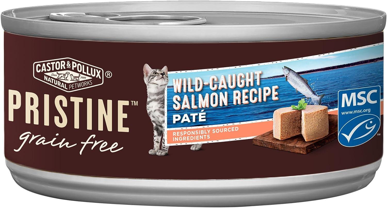 Castor & Pollux Pristine WildCaught Salmon Recipe Wet Cat Food 3 Oz, 24 Count Case