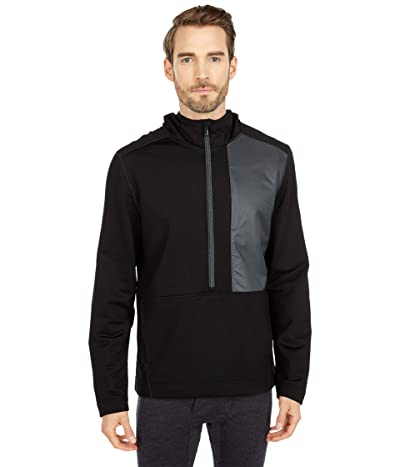 Smartwool Merino Sport Fleece Hybrid Pullover (Black) Men
