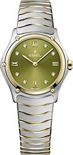 EBEL Ladies 1216473A Sport Classic 18K Gold & Steel Swiss Quartz Watch