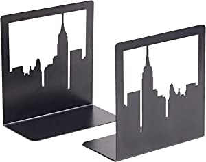 GEOMOD New York City, NYC Skyline, Book Ends, Bookends, Book Ends for Shelves, Bookends for Shelves, Bookends to Hold Tall, Hardback Books, Gifts for Book Lovers