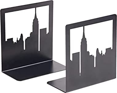 GEOMOD New York City, NYC Skyline, Book Ends, Bookends, Book Ends for Shelves, Bookends for Shelves, Bookends to Hold Tall, H