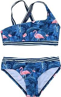 WangsCanis 2 piezas Infantil Playa del Niño Traje de Baño Bikini Set de dos Piezas Traje de Baño Traje de Baño Sujetador T...