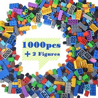 Lightaling Building Bricks Compatible with Lego - 1000 Pieces Bulk Building Blocks in Random Color - Mixed Shape - Include...