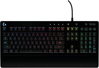 Logitech G213 Prodigy Gaming Keyboard with 16.8 Million Lighting Colors (Renewed)
