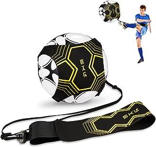 Fußballtraining Kinder Fußballtrainer Solo Fussball Kick Trainer,Solo Fußballtraining mit Verstellbarem Taillengürtel für Kinder Anfänger Kick Off Trainer