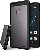 Ringke Fusion Compatible with Huawei P9 Plus Crystal Clear PC Back TPU Bumper Drop Protection, Shock Absorption Technology Protective Cover Huawei P9 Plus Case - Ink Black