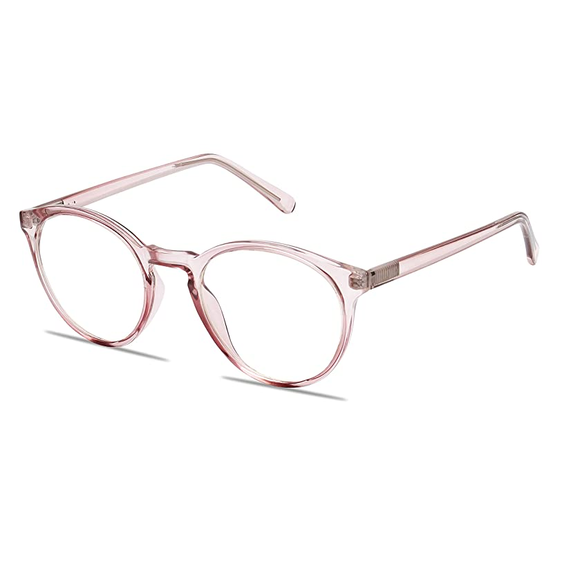 Blue Light Blocking Computer Glasses by WealthyShades—FDA Approved—Sleep Better, Reduce Eyestrain & Fatigue When Gaming, Tablet/Phone Reading, TV—Anti Glare Eyewear Men and Women WR11 (Pink)