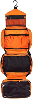 ONEGenug Hanging Toiletry Bag Medium for Men&Women/Travel Toiletry Kit(Orange)