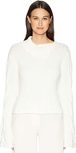 Fold-Over Neck Sweater