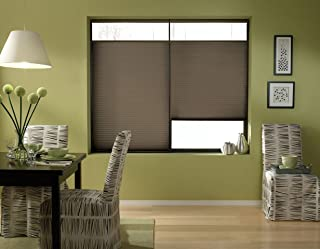 Windowsandgarden Cordless Top Down Bottom Up Cellular Honeycomb Shades, 67W x 71H, Espresso, Any Size 19-72 Wide