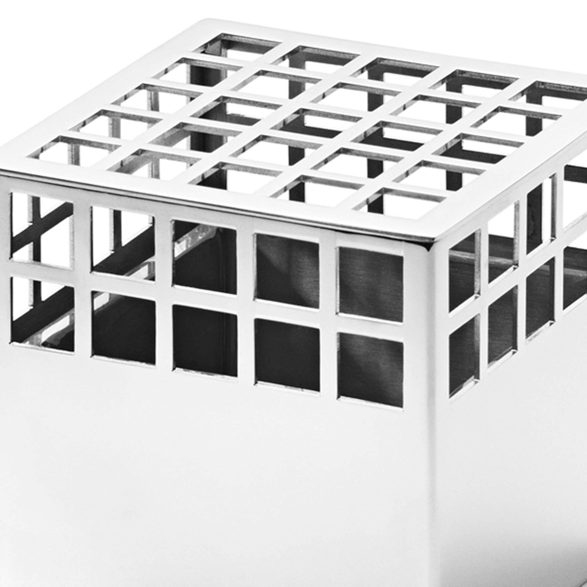 Georg Jensen Matrix - Jarrón de Cubo pequeño, Acero Inoxidable por Monica Forster: Amazon.es: Hogar
