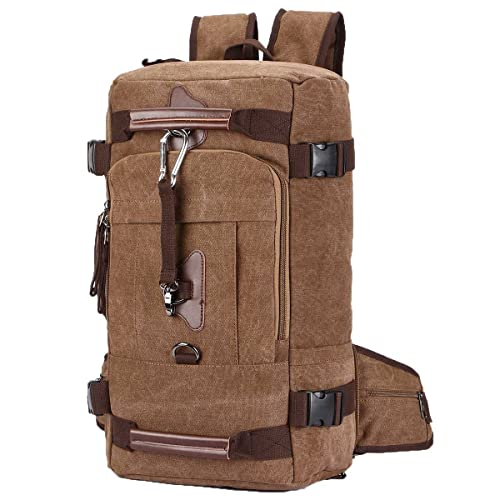 a3592e2ab84 Travel Duffel Backpacks, Yousu Men s Canvas Travel Backpack Bag 45L Large  Capacity Outdoor Traveling Duffle