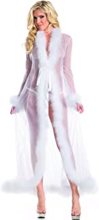 Marabou Feather Robe Adult Costume Accessory White - One Size