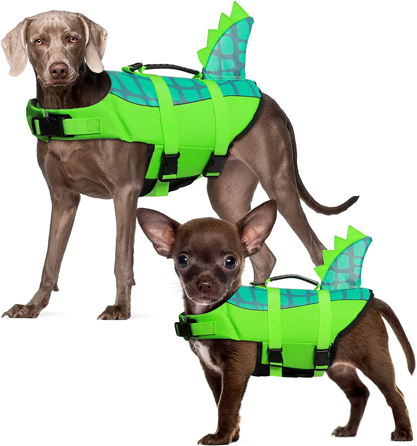 New Orleans Mall Durable Dallas Mall Dog Life Jacket Adjustable Pet Ripstop Vest Safety