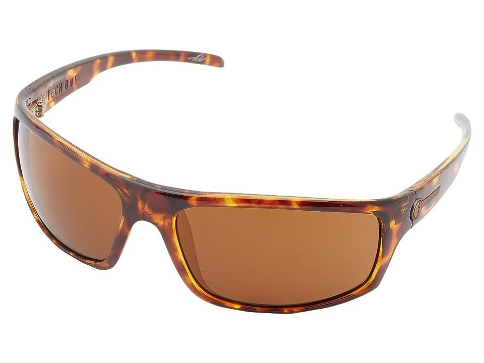 Electric Eyewear Tech One Polarized (Tortosie Shell/M Bronze) Plastic Frame Sport Sunglasses