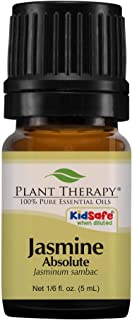 Plant Therapy Jasmine Absolute Essential Oil 100% Pure, Undiluted, Natural Aromatherapy, Therapeutic Grade 5 mL (1/6 oz)