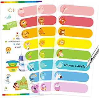 Baby Bottle Labels for Daycare, Self-Laminating, Waterproof Write-On Name Labels,..