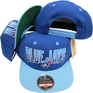 American Needle Toronto Blue Jays Royal Blue/Light Blue Two Tone Plastic Snapback Adjustable Plastic Snap Back Hat/Cap