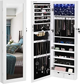 Best wall mounted mirror jewelry cabinet Reviews
