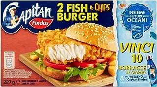 Capitan Findus 2 Fish & Chips Burger, 227g (Surgelato)