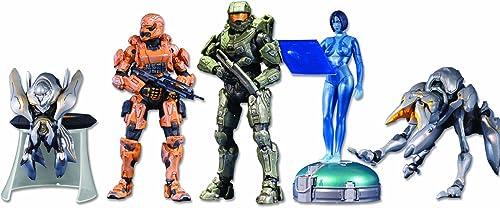 Halo 4  5-Pack w  Exclusive Orange Spartan Soldier Action Figur Set