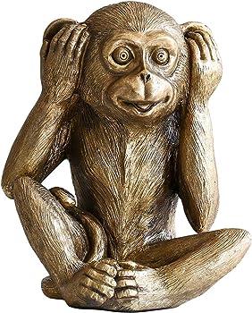 彫刻像装飾品置物サルの像見ないで聞かない言わないで猿の芸術彫刻創造的な動物樹脂工芸品ホームデコレーションアクセサリー
