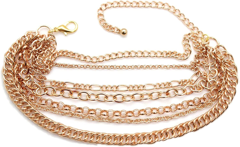 Ð¡harm - New Overseas parallel import regular item Branded goods Women Fashion Boot Gold Chain Color Metal Bracelet